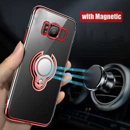 $enCountryForm.capitalKeyWord Australia - Ring Holder Phone Case For Samsung Galaxy S9 S8 Plus S10 Lite Note 8 9 J7 A6 TPU Case Car Magnetic Stand Holder Cover Case