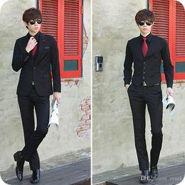 $enCountryForm.capitalKeyWord NZ - Custom Made Black Groom Wedding Tuxedos Latest Coat Pant Designs Burgundy Men Suits Blue Business Man Blazers Wear 3Piece(Jacket+Pants+Vest)