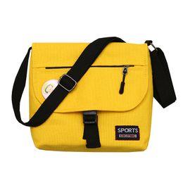 e383ac0271af 2018 new Simple literary solid color shoulder messenger bag multifunction High  Quality college style casual oblique satchel bag