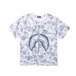 $enCountryForm.capitalKeyWord UK - Mens designer t shirts luxury short sleeve new street brand shark printing cotton casual hip hop street couple half sleeve