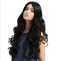 $enCountryForm.capitalKeyWord UK - Fashion NEW women brazilian Hair African Ameri long loose wave Simulation Human Hair curly Wig middle part in stock