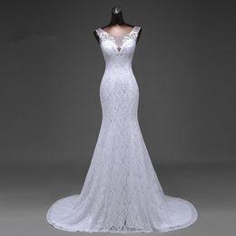 Free 3d Images Australia - Hot sale free shipping Elegant beautiful lace flowers mermaid Wedding Dresses vestidos de noiva robe de mariage bridal dress
