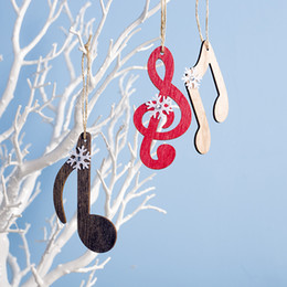 $enCountryForm.capitalKeyWord UK - Wooden Snowflake Musical Note Christmas Tree Pendant Hangings Closet Stove Decorations Drop Ornament for Music Lovers 2020 Xmas