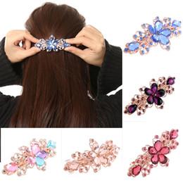 $enCountryForm.capitalKeyWord Australia - hair clip Women Girls Fashion Crystal Flower Rhinestone Hair Clip Barrette Hairpin Headwear Accessories Jewelry For Woman Girls Wedding
