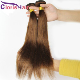 Silky Brazilian Human Hair Extensions Australia - Dark Brown Human Hair Bundles Brazilian Virgin Silky Straight Hair Extensions Cheap Color #4 Straight Hair Weave 3pc Deals Reliable Vendors