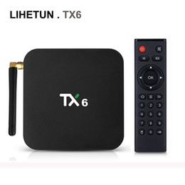 hdmi hd tv UK - TX6 Android 9.0 TV Box Allwinner H6 QuadCore 4GB 64GB Streaming Media Player Support 2.4G 5G Dual Band Wifi BT5.0