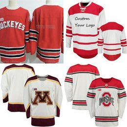 0330286a1 Hockey Jersey Dhiostate Ohio State Buckeyes University Mens Custom any  Number and name Hockey Jersey White S-4XL Free Shipping