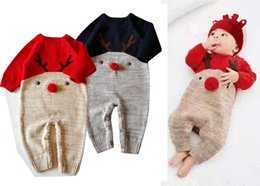 deer baby clothes boy Australia - Retail Newborn Baby Christmas deer Rompers boys girls long sleeve cotton jumpsuit one-piece onesies jumpsuits kids designer clothes