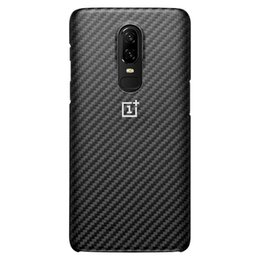$enCountryForm.capitalKeyWord UK - Oneplus 6 Protective Case Karbon Original Oneplus6 Back Cover Shell Phone Cases Ultra Slim Thin Kevlar Black One Plus 6 T190710