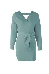 bc4252636d4851 fashion Tangada women dress 2019 knitted mini dress autumn winter ladies  sexy green sweater dress long sleeve vintage korean