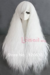 kanekalon lace wigs NZ - wow ! women's no lace Kanekalon hair Bang Cosplay wig long Rhapsody curl wavy fluffy bubble White cosplay hair Wig