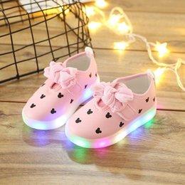 Best Canvas Prints Australia - NEW Fashion Childrens Luminous Shoes Stars Print Girls Flat Shoes Luminous Non-slip Wear-resistant Childrens Shoes Best quality jx998