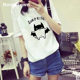 white pink shirt Australia - Summer Korea Style New Women T-shirt Oversize Funny Kawaii Short Sleeve Cartoon Letter Loose Gray Pink White Free Shipping
