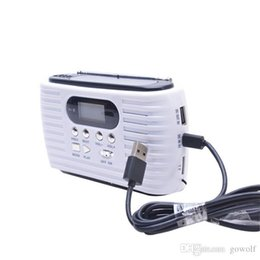 $enCountryForm.capitalKeyWord UK - Portable 3 LED Flashlights Solar Hand Crank Dynamo Powered FM AM Radio Phone SD Card Speaker Charger For Camping Hiking