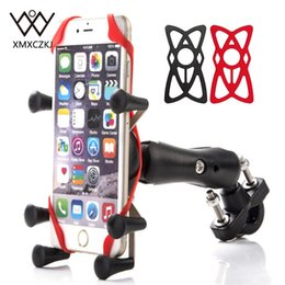 $enCountryForm.capitalKeyWord Australia - Xmxczkj Motorcycle Handlebar Bike Mobile Cell Phone Mount Holder Support Bicycle Silicone X-grip Phone Stand For Smartphone Gps T190625