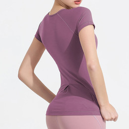 Wholesale stylish clothing for women resale online - Women s Yoga quick drying clothes short sleeved tops careful machine back stylish style suitable for yoga running fitness T shirt