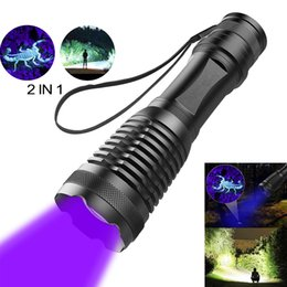 Wholesale 2 in UV Flashlight LED Tactical Flashlight Torch nm Detectors for Carpet Pet Urine Catch Scorpions camping hiking fishing