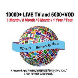 Ios box tv online shopping - World subscription for Android iOS Smart TV Mag Box M3U Europe France USA Canada Germany Spain Portugal Arabic Dutch Sweden Fren Turkey Code