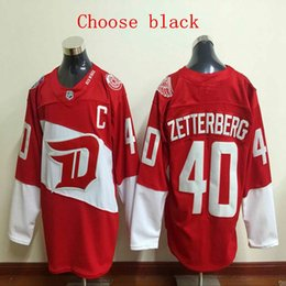 pavel datsyuk jersey cheap Australia - Cheap 2016 Hot sale! Men's #40 Henrik Zetterberg #19 Yzerman # 13 Pavel Datsyuk # 8 Justin Abdelkader High quality embroidery HOCKEY Jersey
