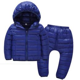 Children Winter Tutus UK - Children Goose Down jacket for Boys and Girl Autumn Winter Children Lightweight Warm Baby kid clothes 2-5years Set Pants