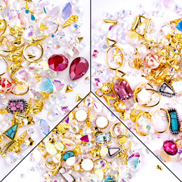 Gem desiGns online shopping - 1PC Nail Art Jewelry Rhinestone Decoration AB Color Crystal Acrylic Pearl Metal Accessories DIY Design Gem D Tips Manicure Tool