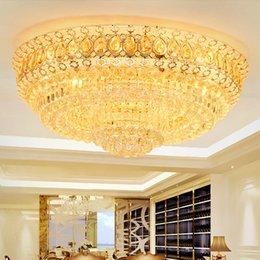 $enCountryForm.capitalKeyWord Australia - Modern crystal chandeliers lightings gold round American chandelier living room bedroom LED ceiling lamps European charming crystal lights