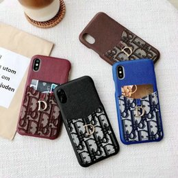 Wholesale 2019 new printed Letter D letter with card slot phone case cover for iphone Xs max Xr X plus plus plus