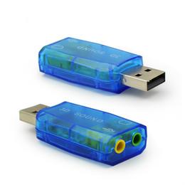 Опт Виртуальная 5.1 Звуковая карта 3D Enternal USB Audio Controller USB 2.0 до 3.5 мм разъем для наушников гарнитура для ПК ноутбук