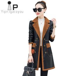 7dd0940f3a4 Black korean ladies jacket online shopping - Korean Fashion Winter Leather Jacket  Women Lambswool Outwear Women