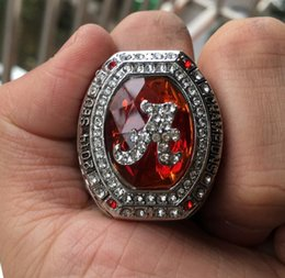wedding display cases NZ - 2014 Alabama Crimson Tide National Championship Ring With Wooden Display Case Box Souvenir Men Fan Gift 2019 2020 jewelry
