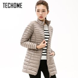 Long Parkas For Women Australia - Autumn Winter Casual Coat Parkas for Women Winter Female Snow Warm Jacket Long Thin Duck Down Coat for Laides Long Sleeve