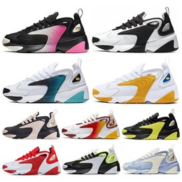 Blue shoe Box online shopping - 2020 M2k Tekno Zoom K men women running shoes Triple White Black Volt Dynamic Yellow Light Cream Sports Sneakers Mens Trainer