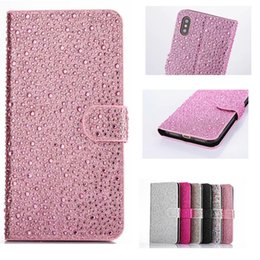 Diamond Flip Covers NZ - Diamond Wallet Case Bling Shiny Full Diamond Cover Flip Stand PU Leather With Crystal Rhinestone Magnetic Closure Shell For iPhone XS X OPP