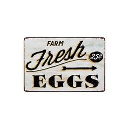 Delicious home online shopping - classic vintage FARM Fresh eggs cupcake tyres delicious food pizza sandwich noodles tin sign Coffee Shop Bar Wall decor Bar Metal Paintings