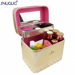 large professional cosmetic bag NZ - Women Large Capacity Professional Pretty Crown Suitcase Makeup Organizer Fashion Toiletry Cosmetic Bag Multilayer Storage Box KS6v#