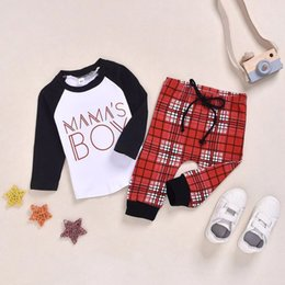 christmas clothes Australia - Children clothing kids fall long sleeve Christmas tops+pants baby boys outfits boy kids toddler clothes set infant suit