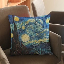 $enCountryForm.capitalKeyWord Australia - Van Gogh Oil Painting The Starry Night Over The Rhone Pillow Cases Home Office Sofa Chair Decoration Cushion Cover
