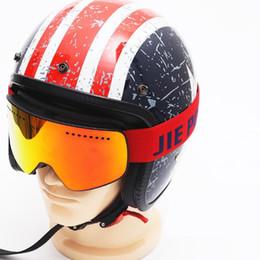 $enCountryForm.capitalKeyWord Australia - JIE Brand Ski Goggles Men Women Snowboard Goggles Magnet Dual Layers Spherical Anti-fog UV400 Snow Skiing Glasses Anti-Slip Strap Ski Mask