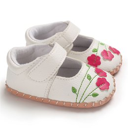 934e2aae87ed Baby Girls Sandals Cute Hollow Out Embroidered Design Soft Sole PU Leather  Anti-Slip Baby First Walking Shoes