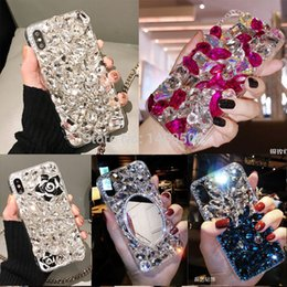 v8 Canada - For HuaWei Honor 7 8 lite Pro 4C 5C 5X 6C Pro V8 V9 V10 View 10 Luxury Big Rhinestone Case Diamond Cover Crystal Girl Phone case