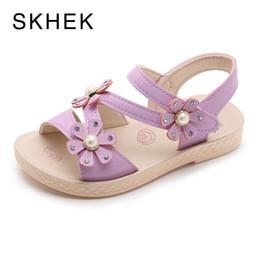 $enCountryForm.capitalKeyWord Australia - Skhek Flat White Sandals For Girls 2019 New Student Princess Shoes Fashion Baby Sandals Baby White Summer Flat Sandalies Y19051303