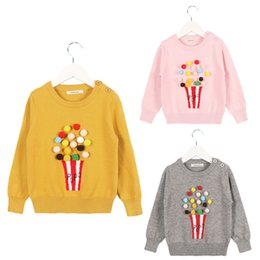 Sweaters Baby Boys Australia - Autumn Baby Girl Child 2019 Winter Ball In Hand Cotton Sweater Pompoms Knitted Jacket Coat Baby Girls Boys Clothing 1-6 Years