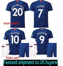 28b57a7c7 Men   Kids 2020 Camiseta chelsee Eden Hazard Chandal Football chelse  football kit 19 20 XXL soccer jerseys