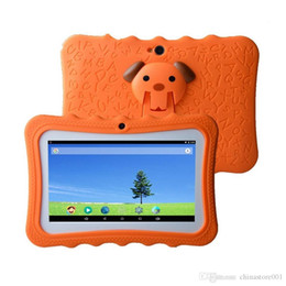 protective tablet android Australia - Kids Tablets PC 7 inch Quad Core Student Children Tablet Android 4.4 Allwinner A33 512MB RAM 8GB ROM google Player Protective Case