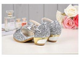a50487532af Silver Shiny Cinderella Sequins Sandal Designer Fashion Luxury Brand Girl  Shoes Big Sequins Bow Designer Shoes Full Sequins Kids Formal Wear