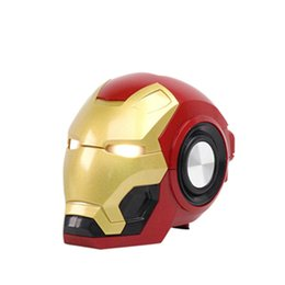 portable kids mp3 speakers UK - Iron Man Bt-Speaker Ironman Christmas Kid Gift LED Flashing Light Boombox MP3 Music Mini Altavoz Bluetooth Con Radio Bocina DHL transport