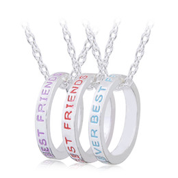 Twisted Ring Pendants NZ - Necklaces Pendants New Women Girls' Jewelry Gifts 3 Pcs Best Friends Forever Letter Print Ring Pendant Necklace