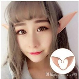 Discount cosplay elf ears - Mysterious Angel Elf Ears Cosplay Accessories Halloween Party Latex Soft Pointed Prosthetic Tips False ears 30pcs lot G8