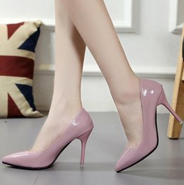 $enCountryForm.capitalKeyWord Australia - Classic women's brand high-heeled patent leather pointed stiletto dress shoes luxury shallow lipstick bottom wedding shoes 2001-01