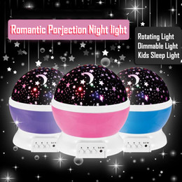 rotating star moon lamp NZ - Lover Gifts Romantic Led Night Lamp Rotating Starry Star Moon Sky Rotation Night Lighting Projector Lamp Kids Children Baby Sleeping Lights
